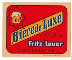 Ancienne étiquette Brasserie Du Midi à Carcassonne 11 - Beer