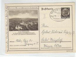 Hindenburg Ganzsache Motiv Kassel-Wilhelmshöhe Mit Bahnpost BERLIN-LEIPZIG  Zug21 10.8.36 - Covers & Documents