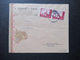 Kroatien 1942 Zensurbeleg / Mehrfachzensur OKW Zensur Umschlag F. Ledicky I Drug Nach Crimmitschau Gesendet - Croatia