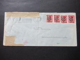 Kroatien 1941 Zensurbeleg / Mehrfachzensur OKW Zensurstreifen Geöffnet Nach Crimmitschau Gesendet - Croatia