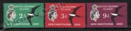 Solomon Islands - Salomon 1961 Yvert 95-97, Politics. New Constitution. Queen Elizabeth. Frigate Bird - MNH - Solomoneilanden (1978-...)