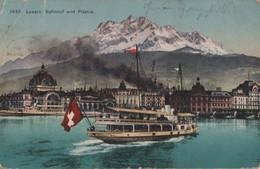 Schweiz - Luzern - Bahnhof Und Pilatus - 1911 - LU Lucerne