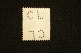 France Perfin Semeuse Perforé  Double Perforation CL203 - Gezähnt (Perforiert/Gezähnt)