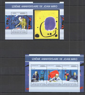 ST1336 2013 GUINEE GUINEA ART PAINTINGS 120TH ANNIVERSARY JOAN MIRO KB+BL MNH - Other
