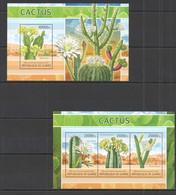 ST1337 2013 GUINEE GUINEA FLORA PLANTS FLOWERS CACTUS KB+BL MNH - Cactusses