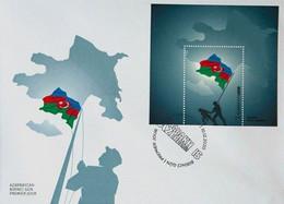 FDC VICTORY IN THE KARABAKH WAR. Azerbaijan Stamps 2020. Azermarka. Flaq. Map First Day Cover - Azerbaïdjan