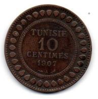 Tunisie -  10 Centimes 1907 A - TB+ - Tunisia