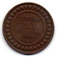 Tunisie -  10 Centimes 1908 A - TB+ - Tunisia