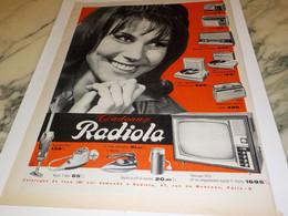 ANCIENNE PUBLICITE CADEAUX  RADIOLA 1962 - Altri