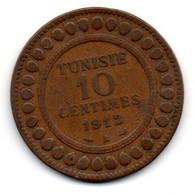 Tunisie -  10 Centimes 1912 A - TB+ - Tunisia