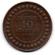 Tunisie -  10 Centimes 1916 A - TTB - Tunisia