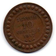 Tunisie -  10 Centimes 1917 A - TTB - Tunisia