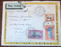 Indochine, Divers Sur Enveloppe (AIR ORIENT) De STUNG-TRENG, Cambodge 22.12.1931 - (B2332) - Storia Postale