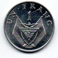 Rwanda - 1 Franc 1969 - SPL - Rwanda