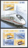 ST2874 2013 NIGER TRAINS LOCOMOTIVES LES TRAINS A GRANDE VITESSE KB+BL MNH - Trains