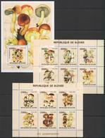 NS007 2002 DE GUINEE FLORA NATURE MUSHROOMS LES CHAMPIGNONS 2KB+1BL MNH - Mushrooms