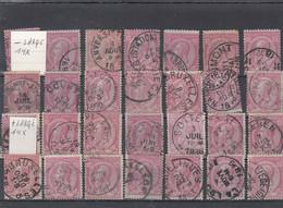 28 TIMBRES N° 46 / 14 TIMBRES PLUS ETROITS ET 14 TIMBRES PLUS LARGES - 1884-1891 Leopoldo II