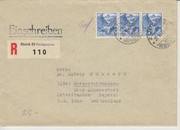 Schweiz, 29.6.1948, R-Brief Von Zürich Nach Wermerichshausen, US Zone Siehe Scans! - Cartas
