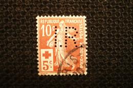 France Perfin Croix Rouge N° 147  Perforé IR - Gezähnt (Perforiert/Gezähnt)