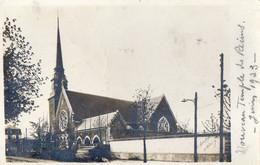 51. MARNE // REIMS.CARTE PHOTO LE NOUVEAU TEMPLE INAUGURE EN 1923 - Reims