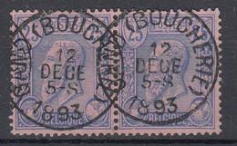 PAIRE DE TIMBRES N° 48  OBLITERATION  GAND BOUCHERIE - 1884-1891 Leopoldo II