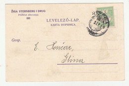 Žiga Sternberg I Drug, Požega Company Postcard Tiskanica Travelled 1910 Požega To Glina B201230 - Croacia