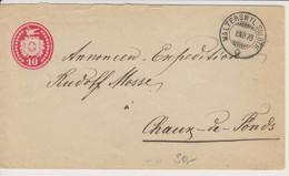 Schweiz, 8.12.1878, Tübelibrief 24 Von Walterswyl Soloth., Schöner, Seltener Stempel Siehe Scans! - Unclassified