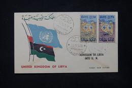 LIBYE - Enveloppe FDC En 1956 - L 84395 - Libye