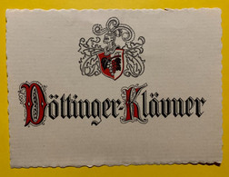 17976 - Döttinger-Klävner Ancienne étiquette - Andere