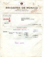 Facture De La Brasserie De Monaco De 1953 - Invoices