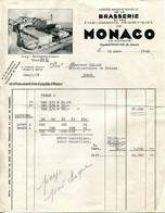 Facture De La Brasserie De Monaco De 1952 - Invoices