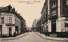 Lens Avant La Guerre Rue De Paris ( Cafés Métropole Et Derache - Lens