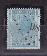 Belgique - COB 18 Obl. Losange à Points 98 - Dixmude - 1865-1866 Profiel Links