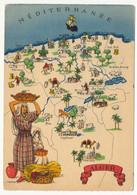 """CPM - ALGERIE - Carte Géographique """"Alger"""" édition Barré-Doyez - Alger"""