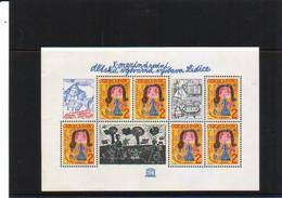 TCHECOSLOVAQUIE  1982 BF YVERT 54  Mi 47 EXPO DESSINS ENFANTS **  LIQUIDATION   10% COTE YVERT 2011 - Blocks & Sheetlets