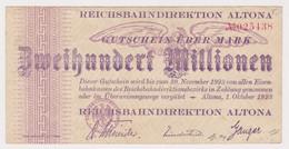 DEUTSCHLAND, Reichsbahndirektion Altona, 200 Millionen Mark - Other