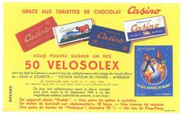 Buvard Velosolex Casino , Chocolat, Concours 1959 - Bikes & Mopeds