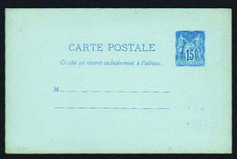 France Entiers Postaux N° 90 CP1 15c Bleu Sur Bleu - Sin Clasificación