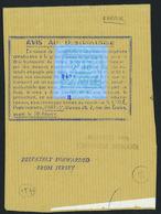 France Grève N° 12 B Erreur 2F40 Vert Sur Bleu Pâleobl - Strike Stamps