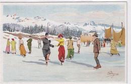 Auf Der Eisbahn - Signiert Pellegrini - Ed.Vouga, GE        (P-291-00913) - Otros Ilustradores