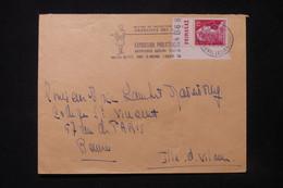 FRANCE - Type Muller Avec Bande Pub Sur Enveloppe De Paris En 1956 Pour Rennes - L 84459 - 1921-1960: Periodo Moderno