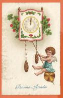 NOV203,Bonne Année, Ange, Angel, Pendule, Champignon, Pilz, Mushroom, Fantaisie,  Circulée 1931 - Nieuwjaar