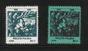 POLAND SOLIDARITY SOLIDARNOSC (KPN) 1988 1918-1988 PILSUDSKI INDEPENDENCE SET OF 2 (SOLID0296/0512) - Etichette Di Fantasia