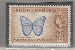 BRITISH HONDURAS QEII Butterfly MVLH (*)   Mi 148A #12686 - British Honduras (...-1970)