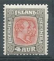 Islande YT N°49 Rois Frédéric VIII Et Christian IX Neuf/charnière * - Unused Stamps