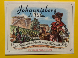 17978 - Johannisberg Du Valais Urs Küchler Alpnach Dorf Ancienne étiquette - Andere