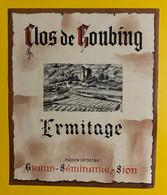 17981 - Clos De Goubing Ermitage Grand Séminaire Sion Ancienne étiquette - Andere
