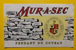 17987 - Mur-à-Sec Fendant Du Coteau Hoirs Ch.Bonvin Sion Ancienne étiquette - Andere