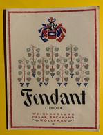 17988 - Fendant 1er Choix Cäsar Bachmann Wollerau Ancienne étiquette - Andere