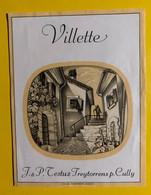 17989 - Villette J & P Testuz  Ancienne étiquette - Andere